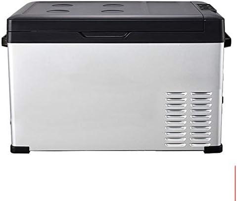 カー冷蔵庫 30リットルポータブルコンプレッサー冷蔵庫冷凍庫ミニACまたはDCはクーラー搭載します 車に置くのに適しています (Color : White, Size : 36.5X65X35CM)