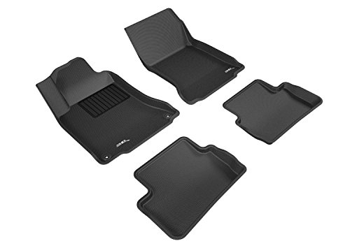 3D MAXpider Complete Set Custom Fit All-Weather Floor Mat for Select Mercedes-Benz GLA-Class Models - Kagu Rubber (Black)