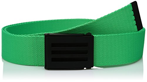 (adidas Golf Men's Webbing Belt, Solar Lime S16, One Size)