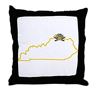 Pattebom Northern Kentucky Nku Norse State Location Throw P Canvas Throw Pillow Covers 18 x 18 Home Decor Farmhouse Throw Pillows Case Cushion Covers Decorative for Gifts