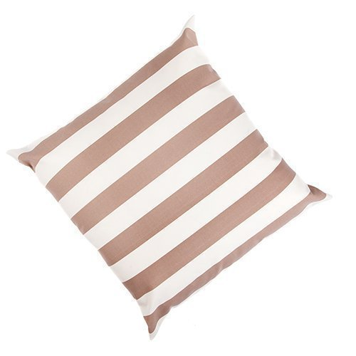 2 Pack Aura Stripe Ivory / Oyster Outdoor EXTRA LARGE Water Resistant Garden Scatter Cushion 24