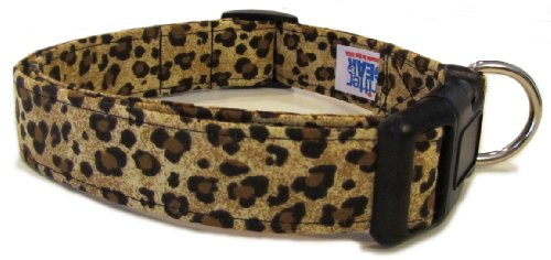 Adjustable Dog Collar in Leopard Print (Handmade in the U.S.A.)
