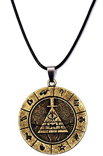 Bill Cipher Keychain Pyramid Pendant Fashion Accessory Cosplay Costume Prop]()
