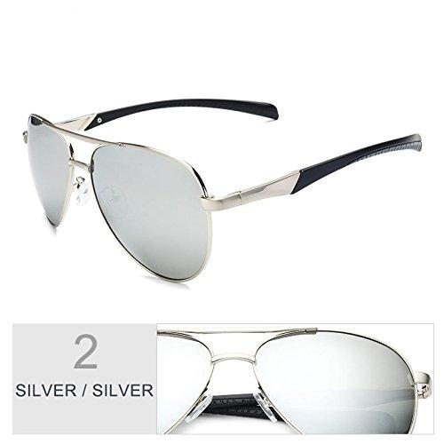 Polarizadas Silver Aviadores Gafas Gafas Gafas Sol Silver De Trajes Clásico Silver Cool De Silver Hombres De Color De TIANLIANG04 De Los Sol Guía qAtZcZR