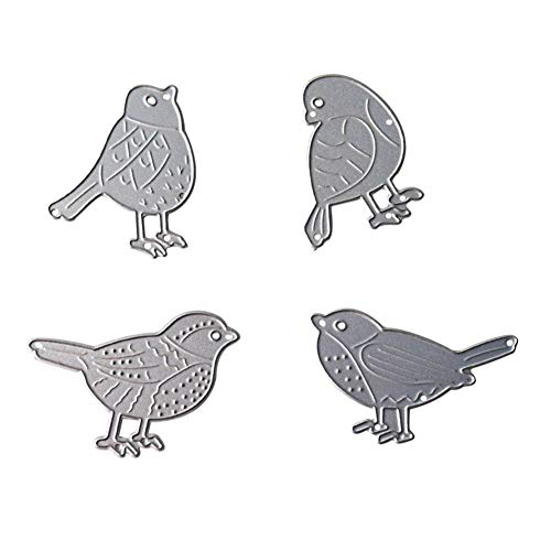 Four Pieces Little Birds Cutting Dies DIY Animal Metal Cutting Dies Stencil Template Mould for Card Making Scrapbook Tool Embossing Album Paper Craft