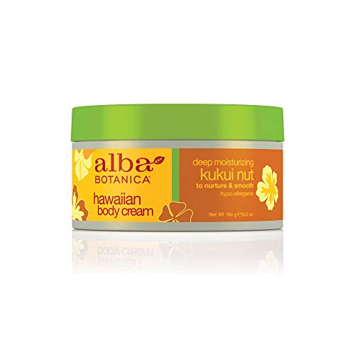 Alba Botanica Kukui Nut Body Cream, 6.5-Ounce Bottle Pack of 2