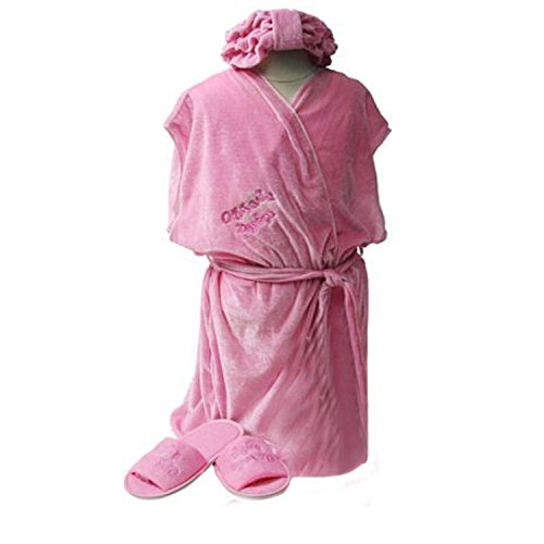 Girls Day Spa Value Birthday Party Favor Robe, Headband & Size S Slippers by Making Believe