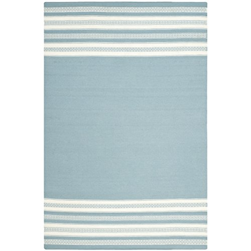 Safavieh Dhurries Collection DHU601C Hand Woven Turquoise Premium Wool Area Rug 3 x 5