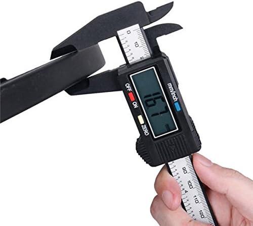 150 mm, fibra de carbono Vernier Regla de calibraci/ón digital electr/ónica