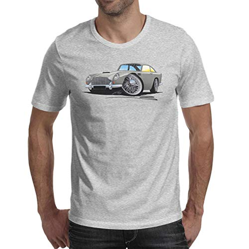 SMHNG A-ston-M-artin-DB5-Grey- Printed Men's Mens T-Shirt Unique Comfort Soft 100% Cotton Shirt -