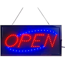 """LED Open Sign for Business Displays: Electric Light Up Sign Open with 2 Flashing Modes   Lighted Signs for Shops, Hotels, Liquor Stores   No use of toxic Neon (19"""" x 10"""", Model 2)"""