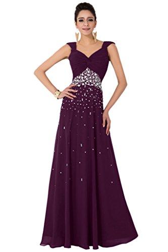 Sunvary 2015Modesto Plus Size Chiffon damigella d' onore abiti rosa Prom dresses White 52