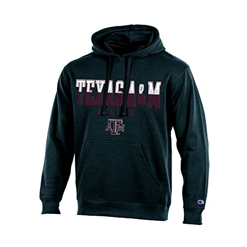 NCAA Texas A&M Aggies Adult Men Pullover Hooded Fleece, X-Large, Black (Fleece A&m Texas)