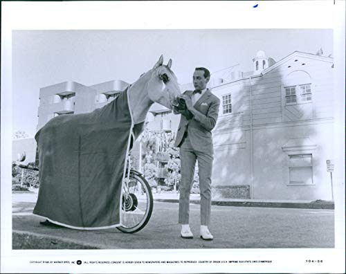 Vintage Photos Actor Pee Wee'S Big Adventure Fantasy Child Like Man Bicycle 8X10