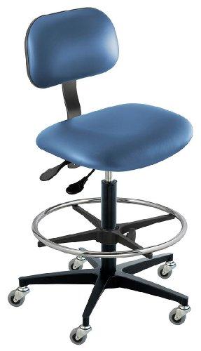 - BioFit - BTC-H-R-ATF-AV106 - Vinyl Ergonomic Chair with 22 to 32 Seat Height Range and 300 lb. Weight Capacity, Royal
