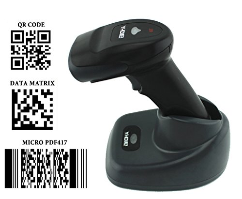 Standard Telephone Codes (PowerRider 433MHZ Wireless Automatic Handheld CCD QR / 1D / 2D Barcode Scanner Bar Code Reader With Wireless Standard 2000MA Battery For PC and Phone Screen , Black)