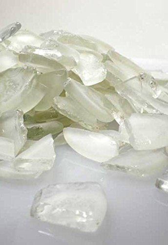 Frosted White Beach Glass 3 lbs - Excellent Home Decor - Indoor & ()