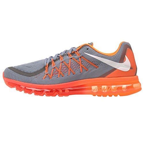Nike hombre Air Max 2015running Shoe Blue Graphite/White/Total Orange-bright
