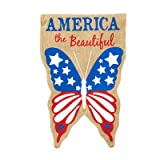 Patriotic Burlap America the Beautiful 2-Sided Vertical Flag Review
