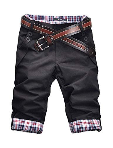 Quadri Schwarz A Corte Quadretti Pantaloncini Da Lunghi Maniche Festivo Uomo Vintage Corti Abbigliamento Lannister RwHqpCF