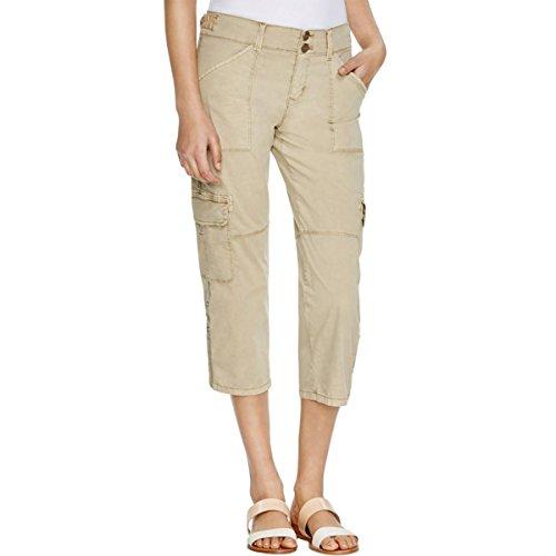 [Sanctuary Clothing Women's Habitat Nature Crop Pant, Real Khaki, 27] (Real Designer Clothes)