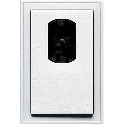 Jumbo Electrical Mounting Block - Builders Edge 130120005001 Mount, White