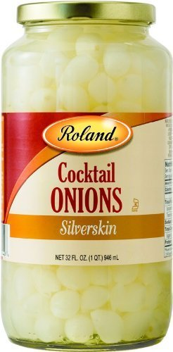 Roland Cocktail Onions 32 Oz (6 Pack) by Roland