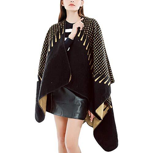 chale Motif Couverture T Femme Chemisier Shirt Or Manteau Blouse Longues Femme Tartan Mode Manches Femmes Tops POTTOA Pull Envelopper Chemisier Confortable 6Etw0q4zvx