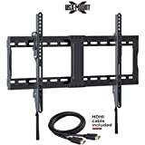 "USX MOUNT XTL006-Low Profile Tilting TV Wall Mount Bracket for Most 37-70 in LED, 4K, OLED TVs-Fits for 50, 55, 65 TV with VESA 200x100mm to 600x400mm-Weight Capacity Up to 132lbs, Fits 16"", 24"" Stud"