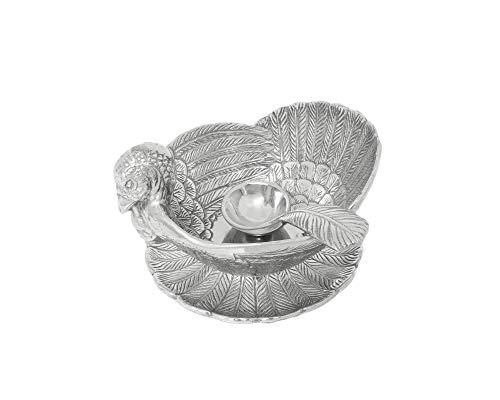 Arthur Court Designs Aluminum Turkey 3-Piece Condiment Set Tray/Bowl/Spoon ()