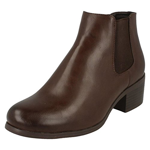 Boots To Ladies Earth Brown Ankle Down Heel Low xT1pAYn7n