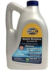 Hella Aceite 100% Sintético Para Motor A Gasolina 5W30, Garrafa De 5 Litros. Número De Parte Hella: Hso-5W30