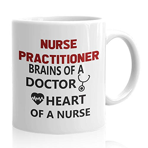Nurses Gift Funny Cofee Mugs for Doctor RN - Gifts Idea for Nurses week Nursing Student Nurse Appreciation Week Future Doctor NICU gifts - Nurse Practitioner Brains of a Doctor Heart]()