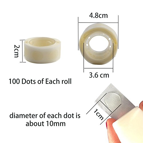 Balloon Glue Point 400 PCS , Double Side Glue Stickers Adhesive Tape Craft For Wedding Party Balloon Decor Art (4 Rolls ) Photo #4