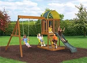 Amazon.com: Big Backyard KidKraft Andorra Cedar Wood Swing ...
