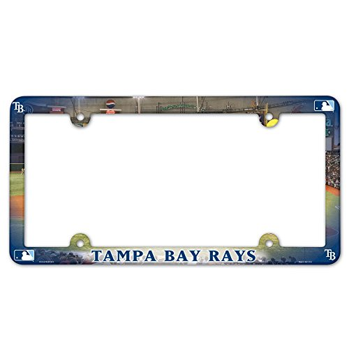 MLB Tampa Bay Rays License Plate with Full Color - Ray Color