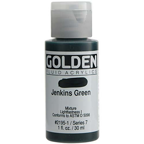 Golden Fluid Acrylic Paint 1 Ounce-Jenkins Green -