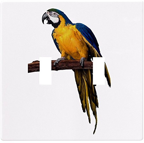 Macaw Parrot Wallplate Decorative Switch Plate Cover (2 Gang - Double (Macaw Plate)