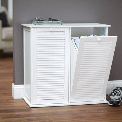 Household Essentials Tilt-Out Laundry Sorter Cabinet with Shutter Front by Household Essentials