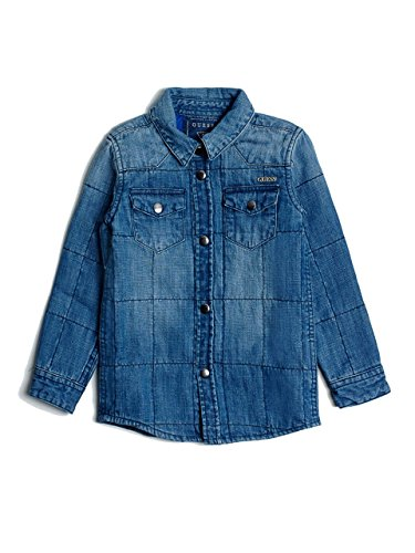 quilted denim shirt - 9