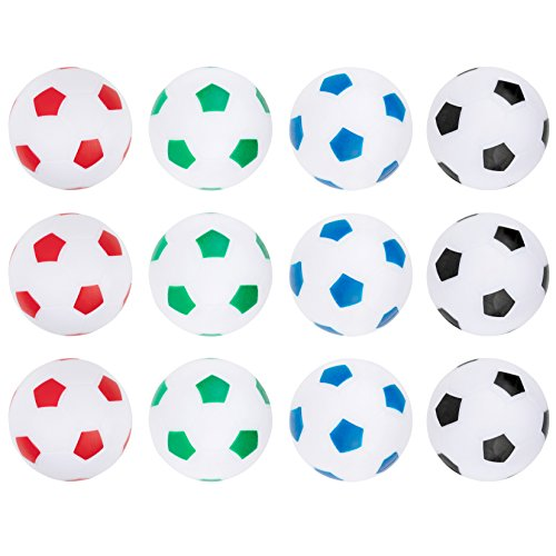 Truscope Sports Foosball Table Soccer Replacement Balls - 36mm - (12 Pack, Multi Color) (Mini Foosball Table Parts)