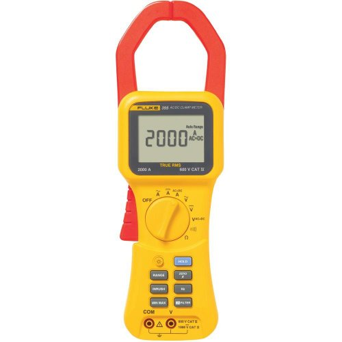 Fluke 355 True RMS Clamp-Meter, 2,000A AC/DC, Conductors to 58mm, Voltage, Frequency, and Resistance Measurement by Fluke