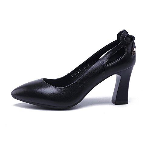 Slip Black Heel Hollow Jqdyl Shoe High Shoe heels Bow Bow twgAAq1zx