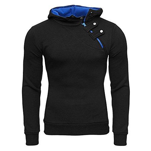TAZZIO Herren Styler Sweatshirt mit Kapuze Pullover Hoodie 16213