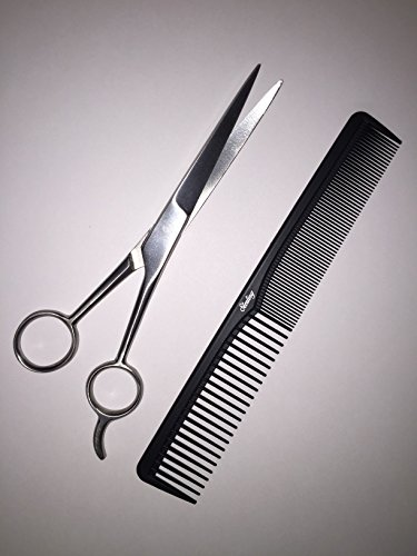 Sterling-Beauty-Tools-Hair-Cutting-Scissors-Made-from-Japanese-Stainless-Steel-Includes-7-Inch-Carbon-Fiber-Styling-Comb-with-Bonus-PVC-Storage-Bag