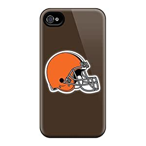 Defender Cases With Nice Appearance (cleveland Browns 3) For Iphone 4/4s