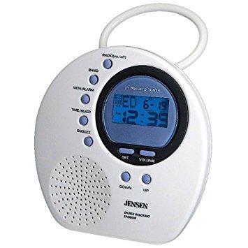 Jensen AM/FM Shower Radio with Digital PLL Tuning - JWM 160 by Jensen