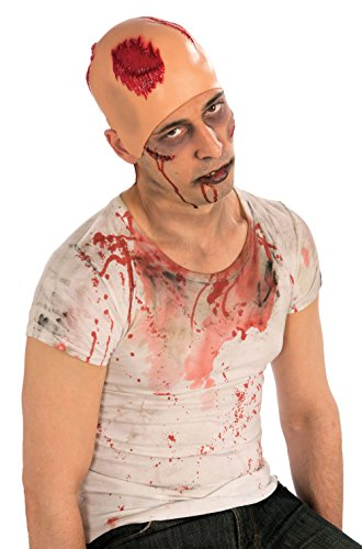 Bloody Bald Cap Vampire Zombie Bleeding Cosplay Add-on (Corpse Party Blood Covered Repeated Fear English)
