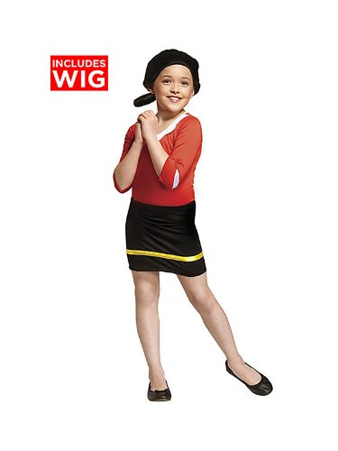 Olive Oyl Costume - Small (Olive Oyl Fancy Dress)