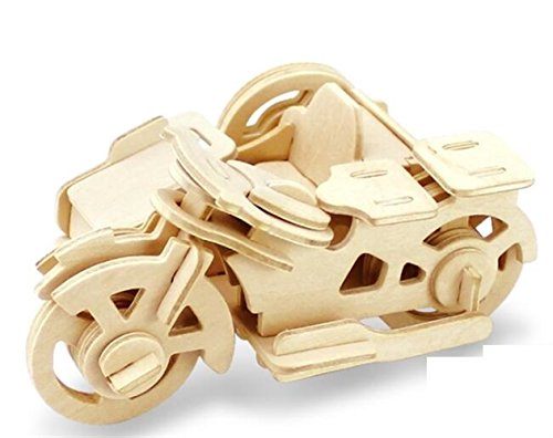 Showking Stimulate Imagination Wooden 3D Puzzle Early Learning Toy Fantastic Gifts for Kids(Three Wheeled ()